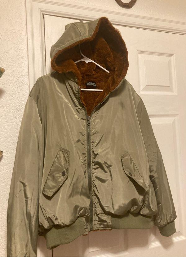 Green bomber jacket women's M/L