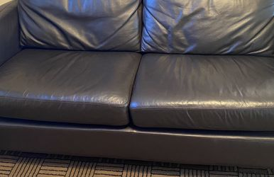 Real Leather Small Couch And Chair for Sale in Chicago,  IL