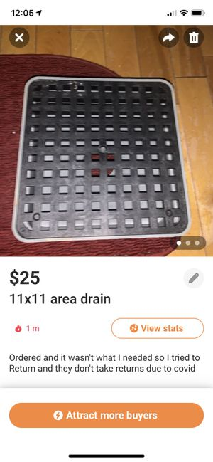 11x11 area drain brand new for Sale in Morgantown, WV