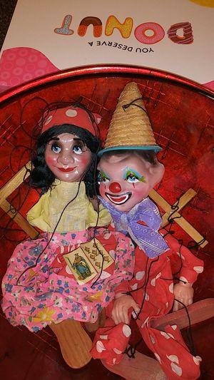 Two Antique Bakelite Marionette Dolls for Sale in Florissant, MO