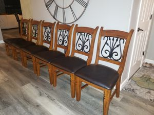 Solid wood 6 dining chairs. for Sale in Vancouver, WA