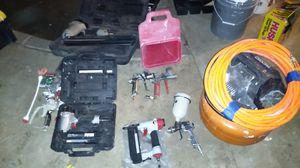 Rigid compressor , nail guns ,paint guns and stucco gun for Sale in Wilmington, CA