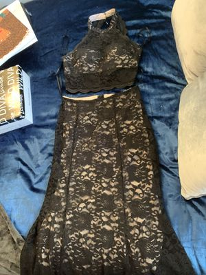 Black mermaid lace sparkly prom dress for Sale in Kissimmee, FL