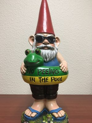 Garden gnome ( swimming pool 🏊 warring sign )No Peeing in the Pool for Sale in Westminster, CA