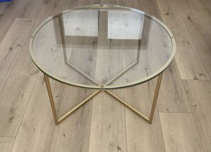 Gold & Glass Coffee Table for Sale in Doral, FL