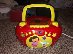 Dora boombox with cassette tape/cd player / radio/ talking Dora for Sale in San Antonio, TX