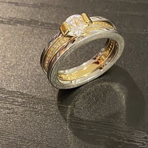 18K Gold plated Engagement/ Wedding Ring - Code / Double for Sale in San Diego, CA