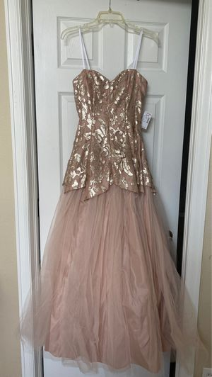 Strapless Blush Gown/Dress for Sale in Aurora, CO