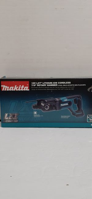 Makita 18-Volt LXT Lithium-Ion 7/8 in. Cordless SDS-Plus Concrete/Masonry Rotary Hammer Drill (Tool-Only) brand new nuevo for Sale in San Bernardino, CA