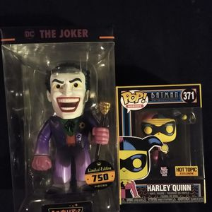New Hikari Japanese Vinyl Funko Figures Of The Joker And Glow In The Dark Funko Pop Harley Quinn for Sale in Albuquerque, NM
