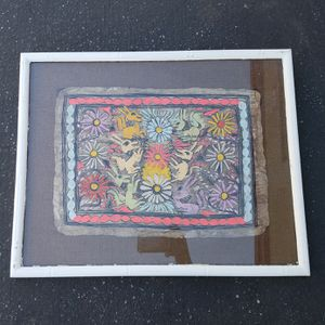 ART - Amate Painting - Mexican Folk Art - mid- century, gallery framed for Sale in Riverside, CA