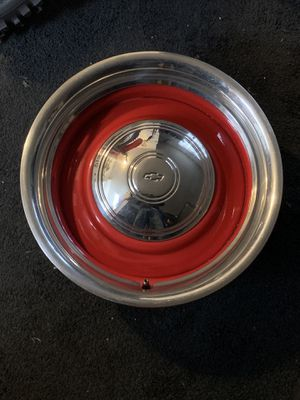 steelies / rally wheels 16 x 7 red powder coated for Sale in Sanger, CA