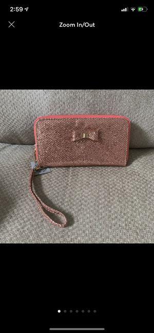 Yoki Pink Sparkly Bow Zip Around Wallet Wristlet for Sale in Hudson, FL