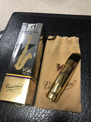 Vandoren Metal V16 Small Chamber T6 Tenor Saxophone Mouthpiece (Ligature not included) for Sale in Easley, SC