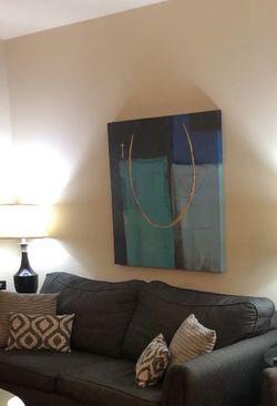 Black/grey Herringbone Sleeper Sofa W End Tables for Sale in Fort Worth,  TX