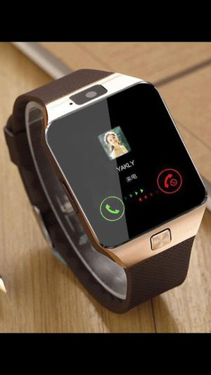 SMART WATCH with Camera Bluetooth Connects to any iPhone IOS or ANDROID Smart phones BRAND NEW & Boxed! SMARTWATCH in retail Package! Can be used wi for Sale in Richmond, TX