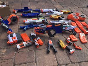 Huge lot of Nerf guns, darts and accessories for Sale in Palm Beach Gardens, FL