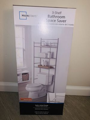 Mainstay 3 shelf bathroom space saver for Sale in San Mateo, CA