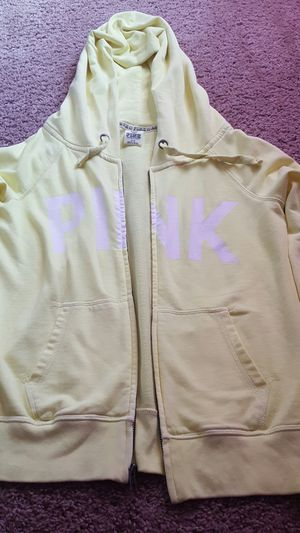 Victoria Secret Pink yellow hoodie for Sale in Katy, TX
