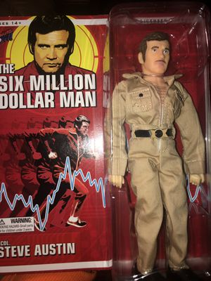 Steve Austin Retro The Six Million Dollar Man Action Figure for Sale in Galena Park, TX