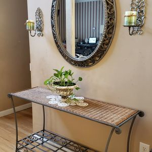 Console, Mirror, Candleholder, Wall Decor for Sale in Duluth, GA