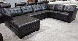 Martino 3pc Italian leather sectional sofa for Sale in Decatur, GA