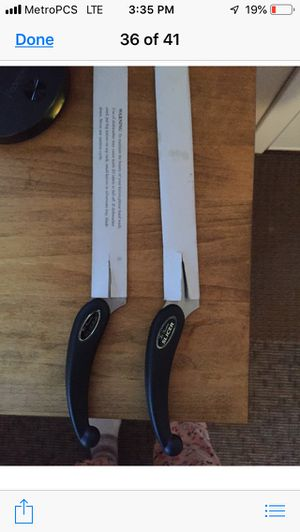 Pair of Miracle Blade III Kitchen Knives for Sale in Beverly, MA