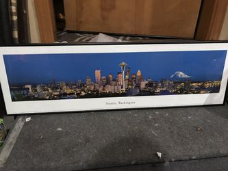 Seattle panoramic skyline art for Sale in Wenatchee,  WA