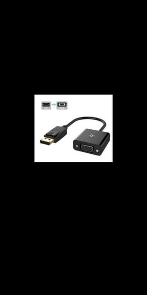 New. Rankie DisplayPort (DP) to VGA Adapter, Gold Plated Converter, Black for Sale in Eastvale, CA