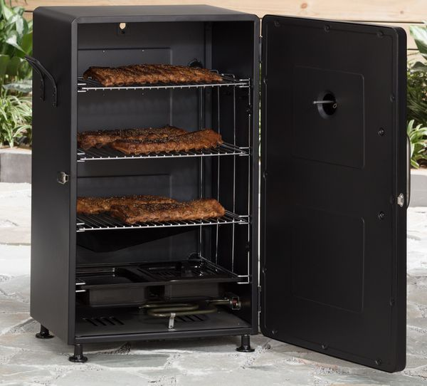 Electric Smoker Grill Oven Barbecue BBQ Meat Backyard Cookout Tailgating