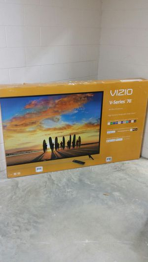 Price firm brand new 70-inch Vizio 4K smart V series built-in Chromecast no Trading for Sale in Winston-Salem, NC