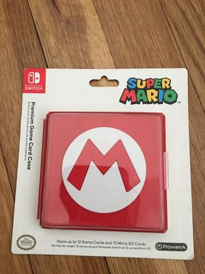 Combo Nintendo Switch 12 Game Premium Case + Super Mario Odyssey Gold coin! for Sale in Cuyahoga Falls, OH