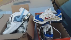 Nike tennis shoes white and blue ones size 6 60 bucks the red white and blue ones 5 + 1/2 60 bucks for Sale in Brandon, MS