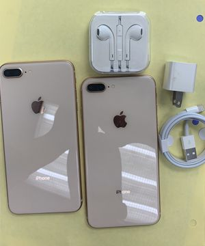 apple iphone 8 plus, 64 gb unlocked with store warranty and receipt for Sale in Somerville, MA
