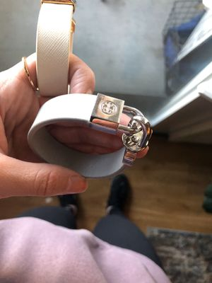 Tory Burch Silver and blue leather Braclet for Sale in Denver, CO