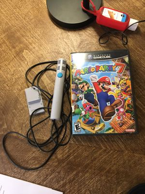 Mario Party 7 With Microphone for GameCube— Disc doesn't fully read for Sale in Denver, CO