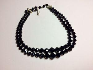 Laguna vintage costume 2-layers black crystal necklace for Sale in Los Nietos, CA