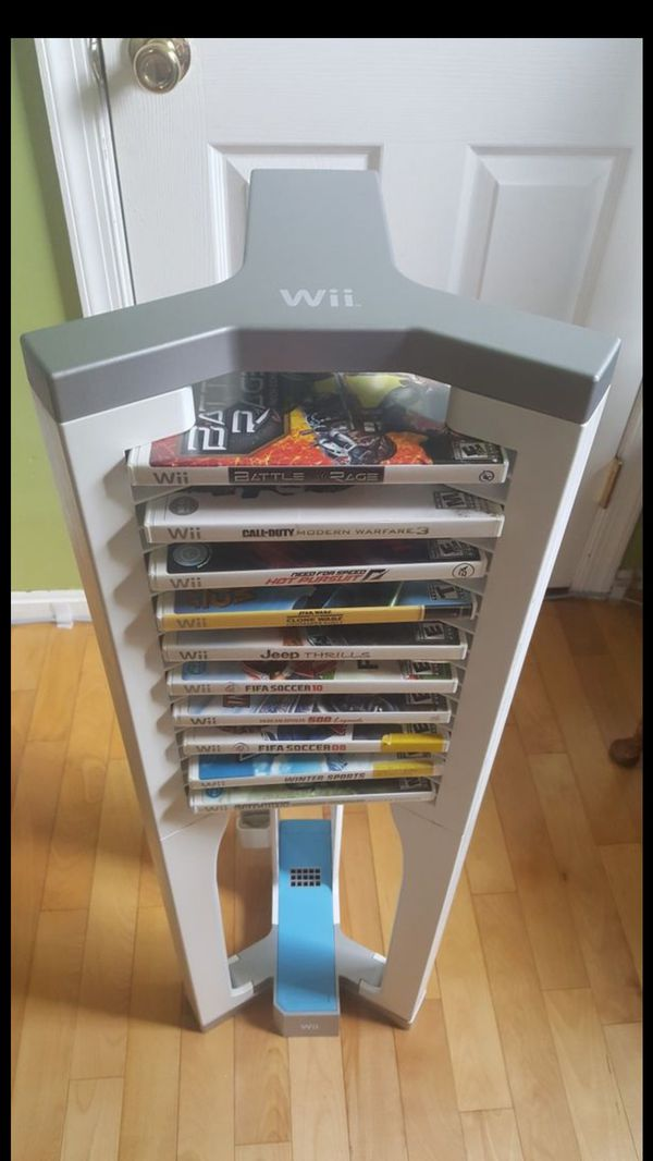 Wii Gaming Tower with Wii games
