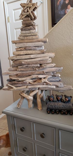 Natural Wood Christmas Tree 25in for Sale in Goodyear, AZ