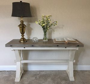 Drop Leaf Console Table, Writing Desk, & Dining Table in one! for Sale in Fresno, CA
