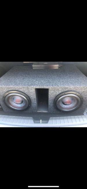 """2 10"""" massive audio subs, massive audio 400o watt amp and box for Sale in Louisville, TN"""