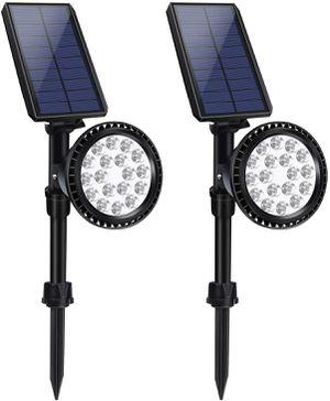 Outdoor Solar Lights, 18 LED Spotlight Waterproof Landscape Lights Solar Security Lamps for Garage Deck Garden Wall for Sale in Ontario, CA