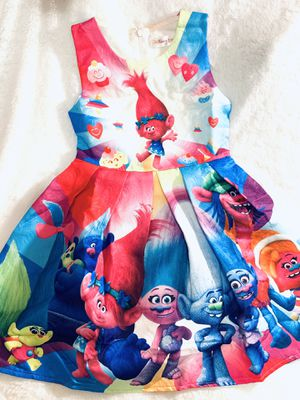 4t, 6x and 7yrs Trolls party dress $20 each for Sale in National City, CA