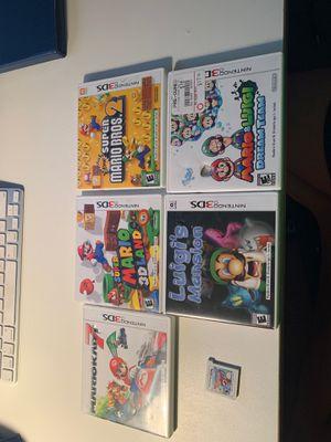 3DS games MARIO Kart 7, MARIO 3D land, Mario bros 2, luigis mansion, Mario and Luigi dream team, and Mario party island tour for Sale in Tamarac, FL
