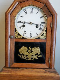 ANTIQUE ATKINS CLOCK 1875 Working Good Miss The Pendulum for Sale in Los Angeles,  CA