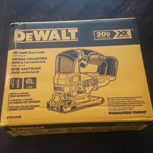 Brand new Dewalt 20v Xr Brushless Jigsaw tool Only Sealed Box $125 for Sale in Fresno, CA