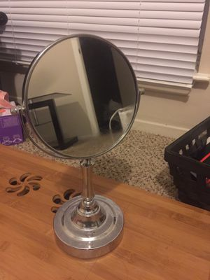 Sagler Vanity Mirror Chrome 6-inch Tabletop Two-Sided Swivel with 10x Magnification for Sale in Lombard, IL
