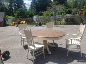Farmhouse table and chair's for Sale in US