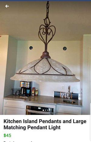 Kitchen island chandelier for Sale in Camden, NJ