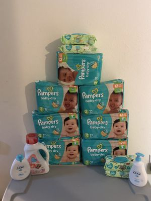 Pampers diaper bundle for Sale in Dickinson, TX